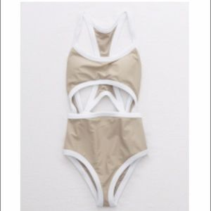 NWOT Aerie Nude One Piece